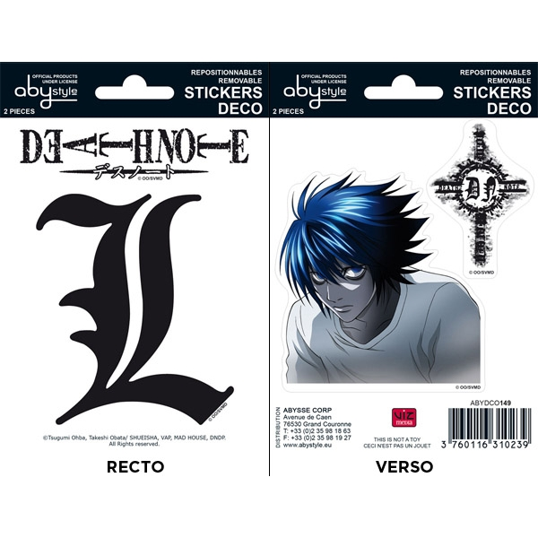 Death Note - L  Mini Stickers
