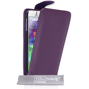 YouSave Accessories Samsung Galaxy S5 PU Leather Flip Case - Purple