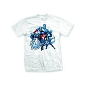 Avengers Group Assemble Mens White T-Shirt XX-Large