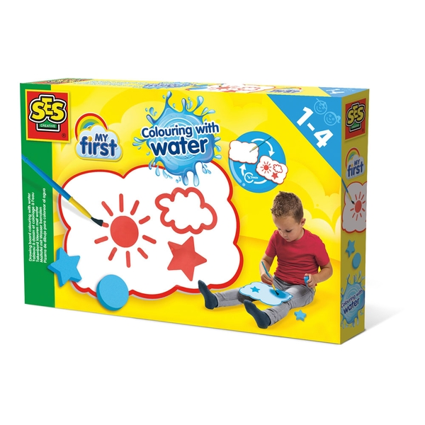 SES Creative - Children's My First Colour with Water Drawing Board Set (Multi-colour)