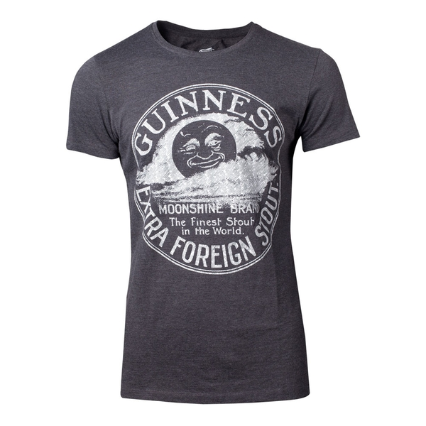 GUINNESS Male Heritage Intaglio Raised Printed T-Shirt, Medium, Grey (TS150724GNS-M)