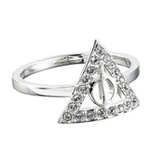 Deathly Hallows Ring with Crystals - Medium