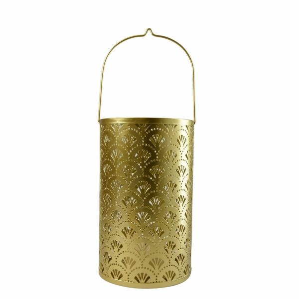 Large Gold Metal Cut Out Candle Holder