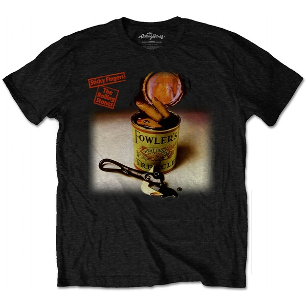 The Rolling Stones - Sticky Fingers Treacle Men's Large T-Shirt - Black