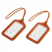 Hama Luggage Tag Set of 2 Orange