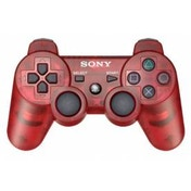 Official Sony Dualshock 3 Controller Transparent Red PS3