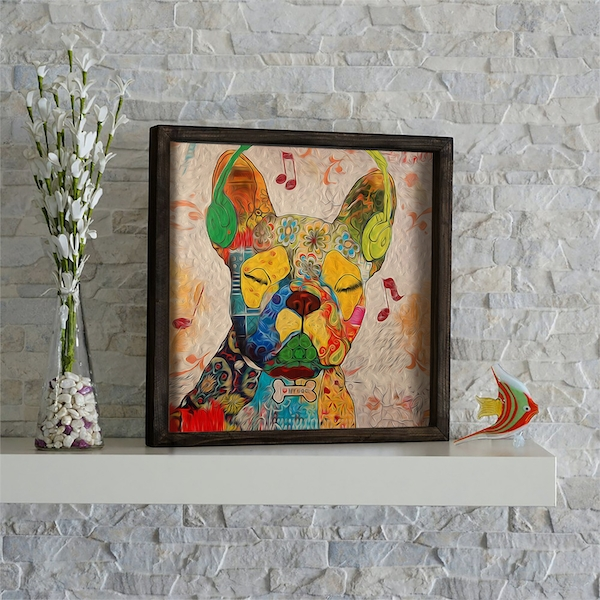 KZM487 Multicolor Decorative Framed MDF Painting
