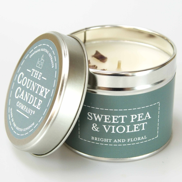 Sweet Pea & Violet (Pastel Collection) Tin Candle