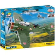 Cobi Small Army World War II PZL P-23B Karas E Plane - 280 Toy Building Bricks