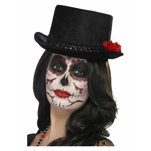Day of the Dead Top Hat (Black)