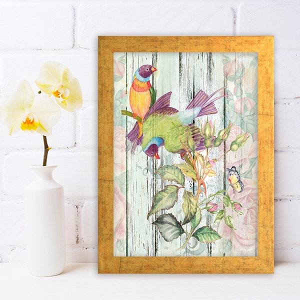 AC151728440 Multicolor Decorative Framed MDF Painting