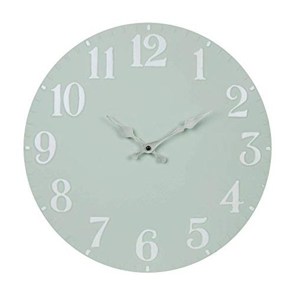 Home Grey Metal Wall Clock Silver Hands 40cm