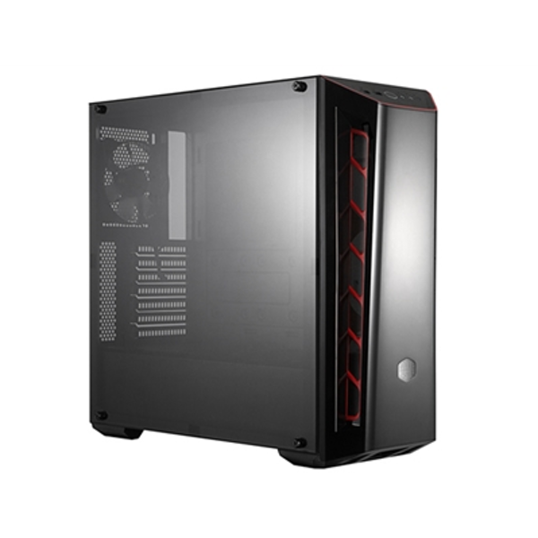 Cooler Master MasterBox MB520 Mid Tower 2 x USB 3.0 Edge-to-Edge Tempered Glass Side Window Panel Black Case with Red Trim & DarkMirror Front Panel