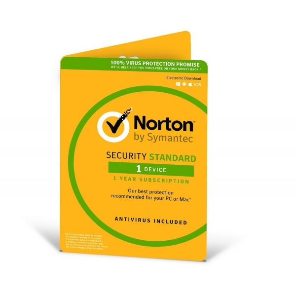 Norton Security Standard 3.0 1 User 1 Device 12 Months License Card PC and Mac