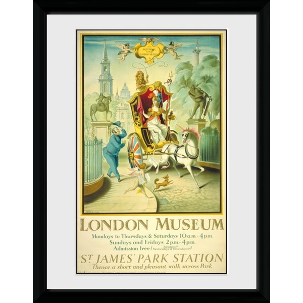"Transport For London London Museum 12"" x 16"" Framed Collector Print"