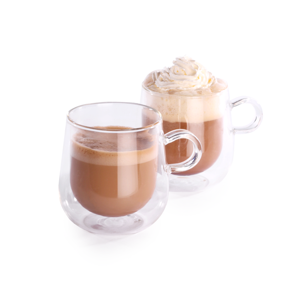 Set of 2 80ml Double Walled Espresso Mugs with Handles | M&W