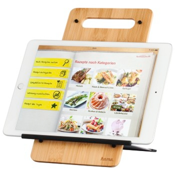 """Hama""""Timber"""" Stand for 7 to 10.5 Inch Tablets Bamboo"""