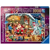 Ex-Display Ravensburger Let's Visit Santa! 2018 1000 Piece Jigsaw Puzzle Used - Like New