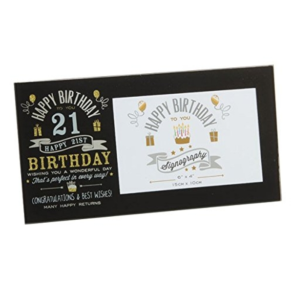 "6"" x 4"" - Signography 21st Birthday Glass Frame"
