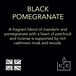 Black Pomegranate (Wonderwick) Noir Glass Country Candle - Image 6