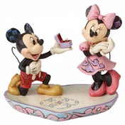(Damaged Packaging) A Magical Moment (Mickey Proposing to Minnie Mouse Figurine) Disney Traditions Figurine Used - Like New
