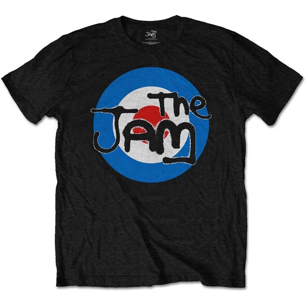 The Jam - Spray Target Logo Kids 3 - 4 Years T-Shirt - Black
