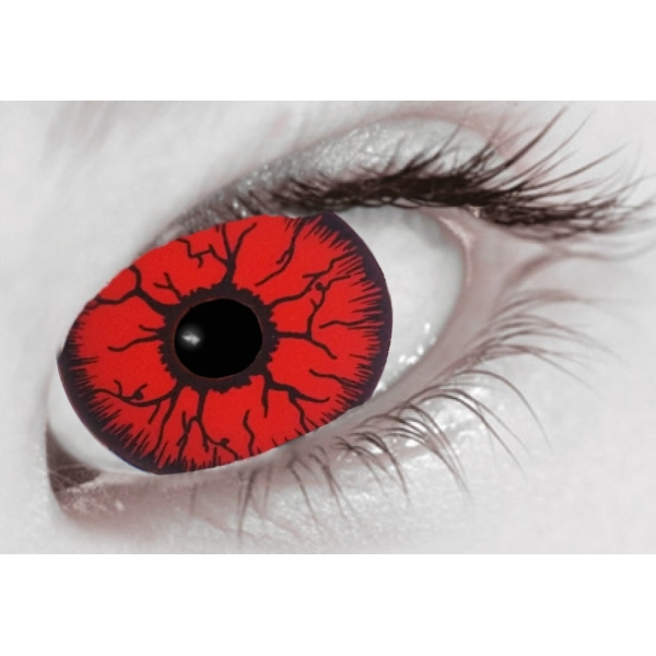 Mini Sclera Red Rage 1 Day Halloween Coloured Contact Lenses