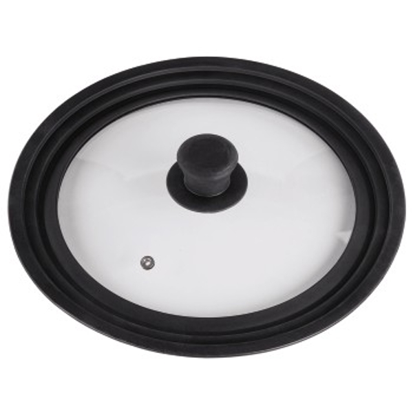 Xavax Universal Lid with Steam Vent for Pots and Pans, 24, 26, 28 cm, glass