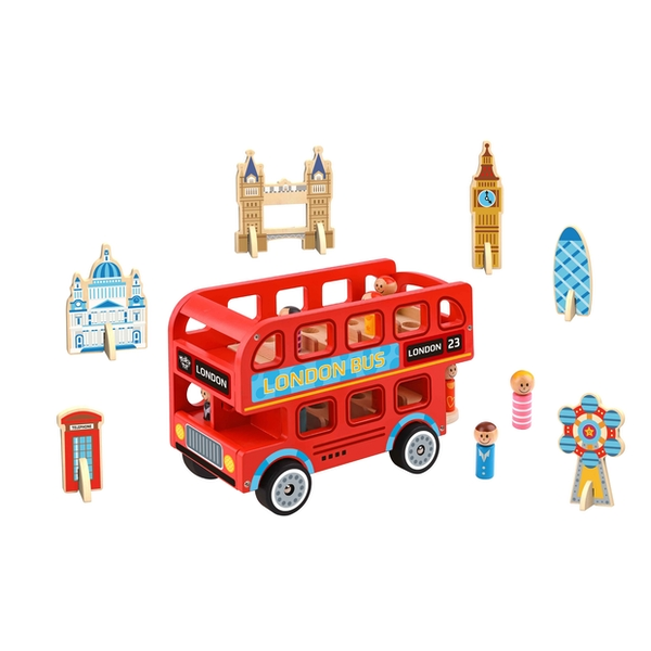 London Bus Wooden Playset