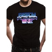 Ready Player One - Neon Logo Men's X-Large T-Shirt - Black