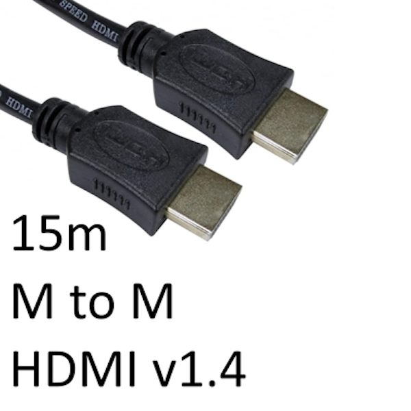 HDMI 1.4 (M) to HDMI 1.4 (M) 15m Black OEM Display Cable