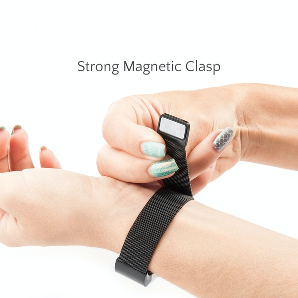 Proworks FitBit Charge 2 Milanese Metal Strap - Black - Image 5