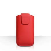 YouSave Lichee PU Leather Pouch (S) - Red