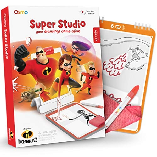 Osmo - Super Studio Learn To Draw Your Favorite Incredibles 2 Characters Game - Ages 5 - 11 - Watch Them Come to Life - for iPad and Fire Tablet (Base Required)