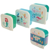 Mermaid Set of 3 Plastic Lunch Boxes
