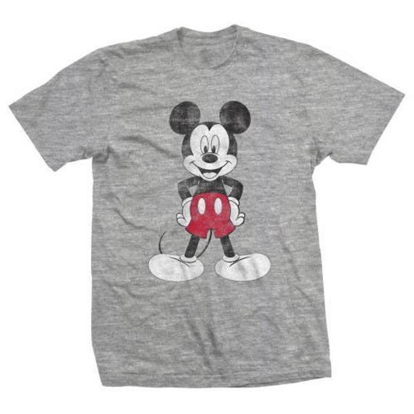 Disney - Mickey Mouse Pose Unisex Large T-Shirt - Grey