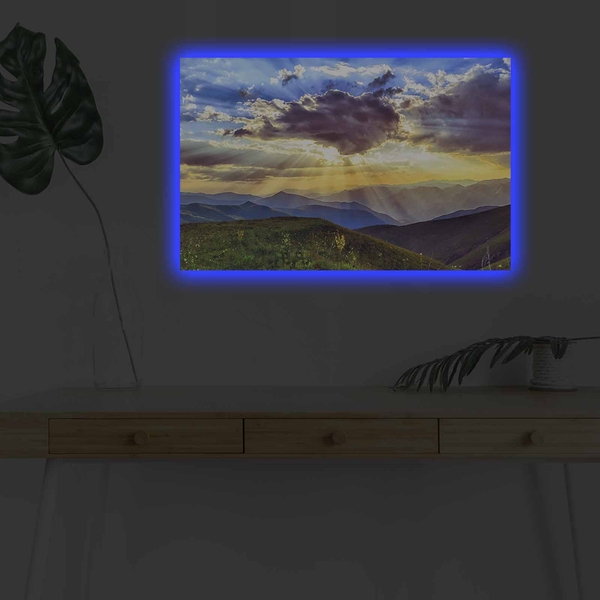 4570DHDACT-168 Multicolor Decorative Led Lighted Canvas Painting