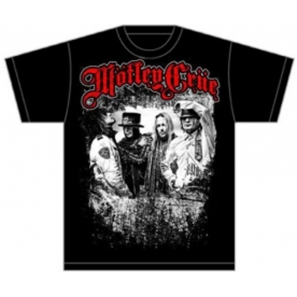 Motley Crue Greatest Hits Bandshot Mens Black TShirt: Medi