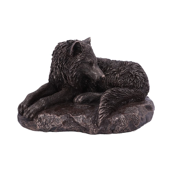Guardian Of The North Bronze Wolf Figurine