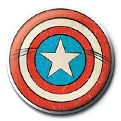 Marvel Retro - Captain America Shield Badge