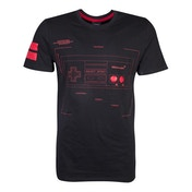 Nintendo - Nes Controller Super Power Men's Medium T-Shirt - Black/Red