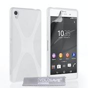 b55193427250 YouSave Accessories Sony Xperia Z3+ Silicone Gel X-Line Case - White