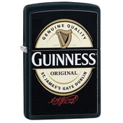 Zippo Guinness Label Black Matte Windproof Lighter