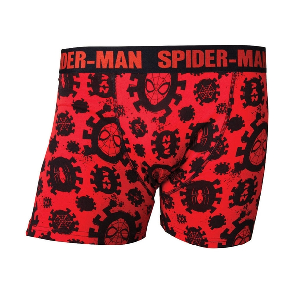 Marvel Comics - Spider-Man All-Over Print Men's X-Large Boxer Shorts - Red/Black