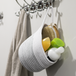 Hanging Cotton Rope Basket | M&W White with Black Thread - Image 4
