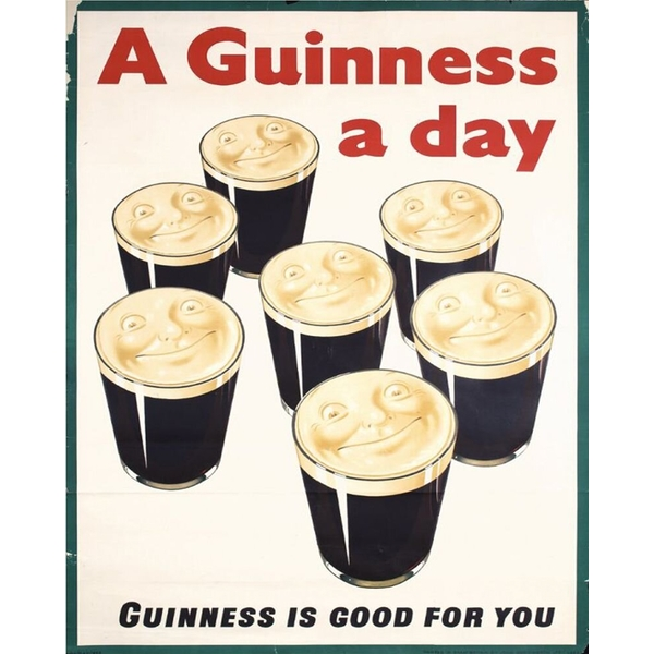 Vintage Metal Sign Retro Advertising Guiness