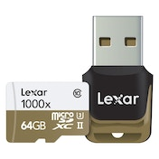 Lexar Professional 64 GB Class 10 High Performance Micro SDHC UHS-II Memory Card with Card Reader