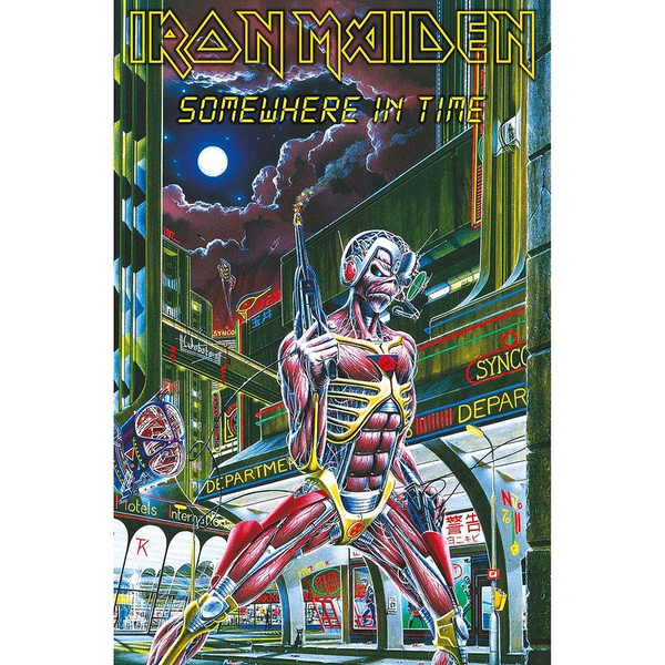 Iron Maiden - Somewhere In Time Textile Poster