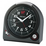 Seiko QHK029J Selectable Bell/Beep Alarm Clock with Volume Control Black