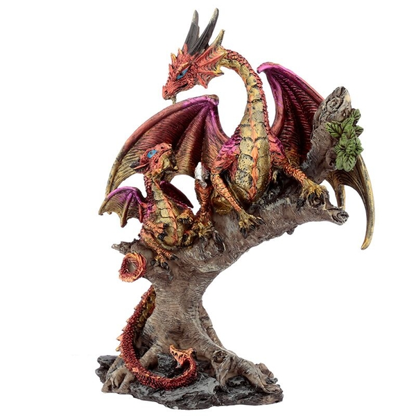 Forest Fire Mother Dark Legends Dragon Figurine